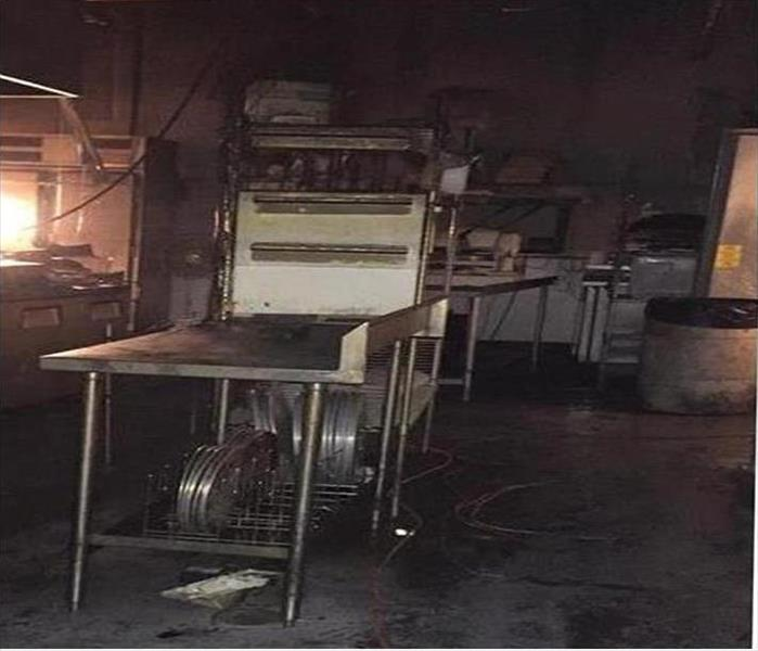 Lafayette Fire Damage in a Restaurant Before