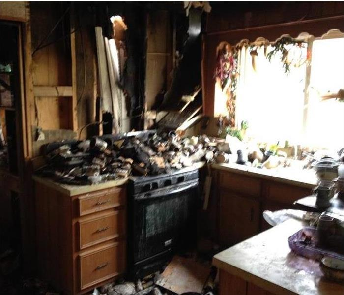 Fire Ravaged Kitchen in Lafayette Before