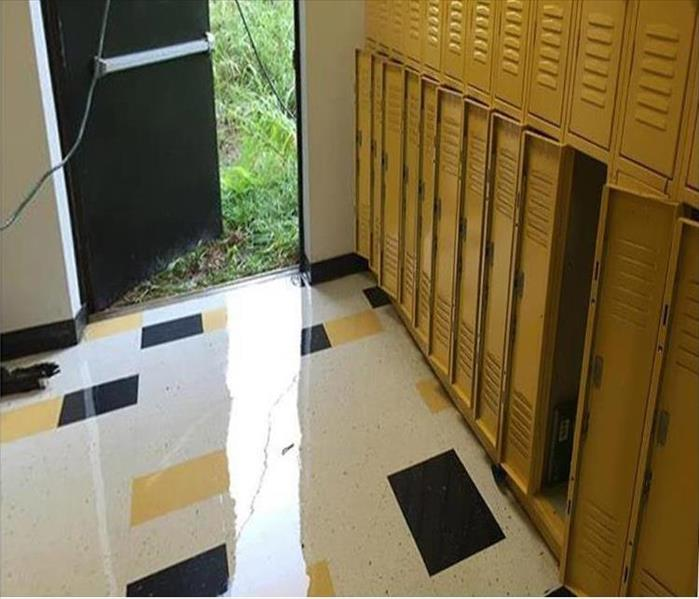 Storm Damage to a Lafayette Locker Room Before