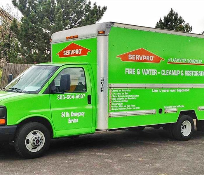 SERVPRO Box Truck Equipped for Business in Superior