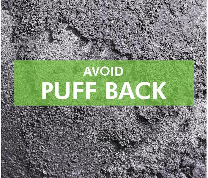 Background of puffback, with the phrase Avoid Puff back
